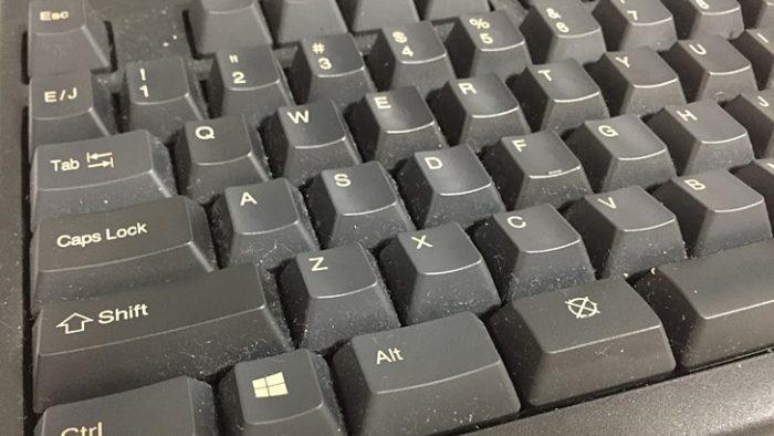 汚れたキーボード