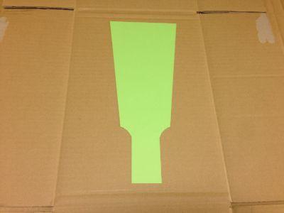 ダンボールで羽子板の作り方手順2