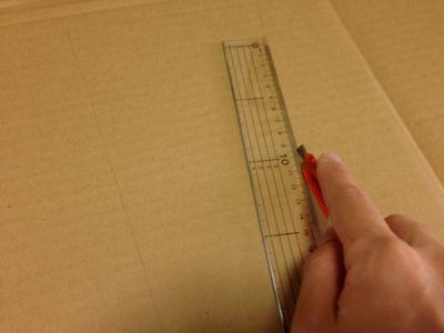 ダンボールで羽子板の作り方手順3