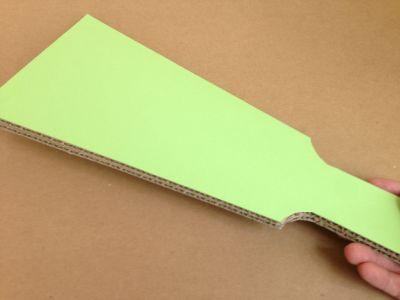 ダンボールで羽子板の作り方手順6