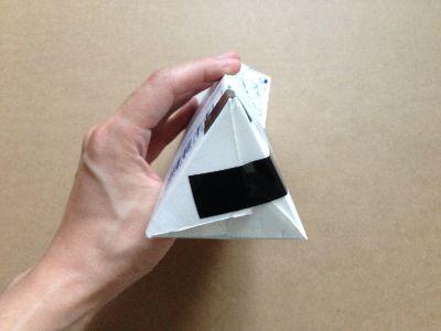 六角形の牛乳パック椅子の作り方手順11