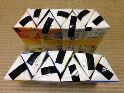六角形の牛乳パック椅子の作り方手順22