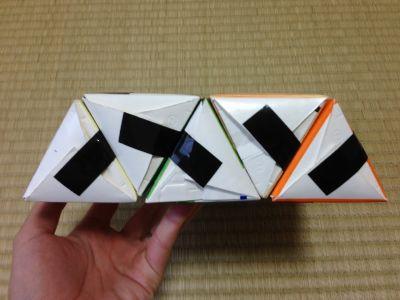 六角形の牛乳パック椅子の作り方手順20