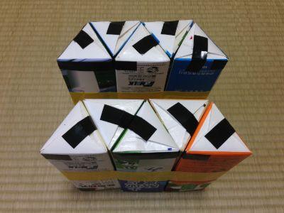 六角形の牛乳パック椅子の作り方手順21