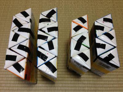六角形の牛乳パック椅子の作り方手順23