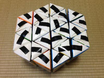 六角形の牛乳パック椅子の作り方手順25