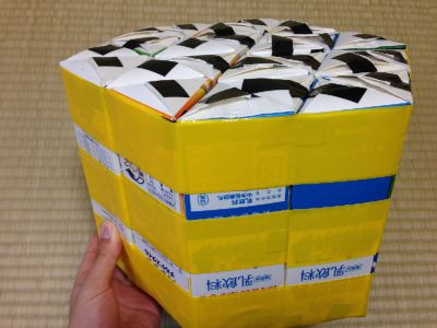 六角形の牛乳パック椅子の作り方手順26