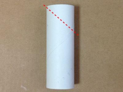 トイレットペーパー芯と画用紙で門松の作り方手順1