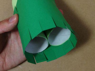 トイレットペーパー芯と画用紙で門松の作り方手順10