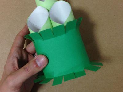トイレットペーパー芯と画用紙で門松の作り方手順11