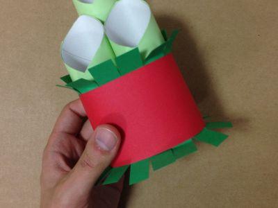 トイレットペーパー芯と画用紙で門松の作り方手順13