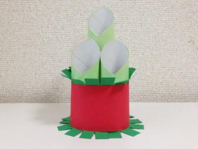 トイレットペーパー芯と画用紙で門松の作り方手順14