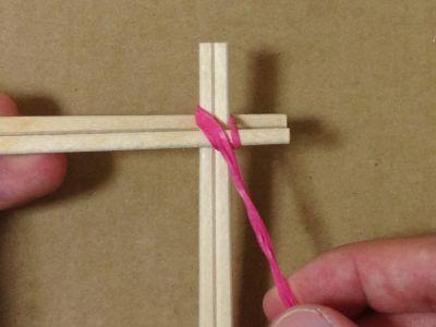簡単割り箸ゴム鉄砲の作り方手順4