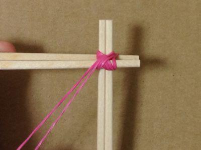 簡単割り箸ゴム鉄砲の作り方手順5
