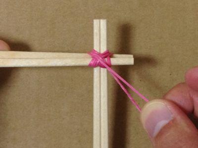 簡単割り箸ゴム鉄砲の作り方手順6