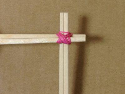 簡単割り箸ゴム鉄砲の作り方手順8