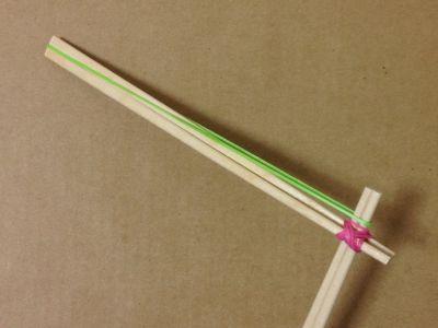 簡単割り箸ゴム鉄砲の作り方手順10